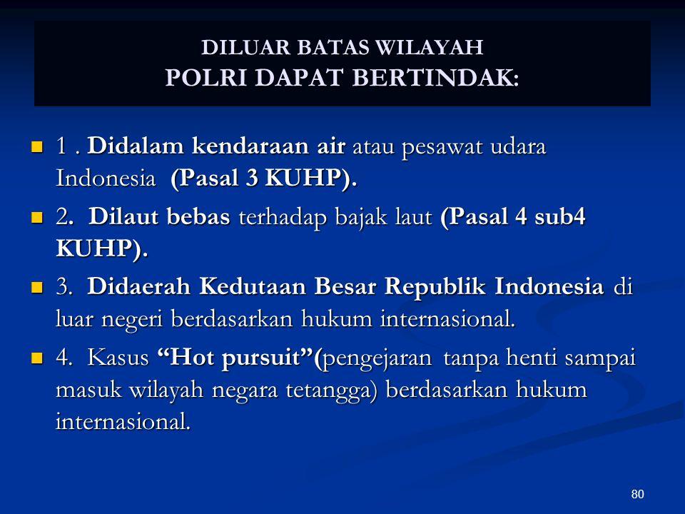 DILUAR BATAS WILAYAH POLRI DAPAT BERTINDAK: