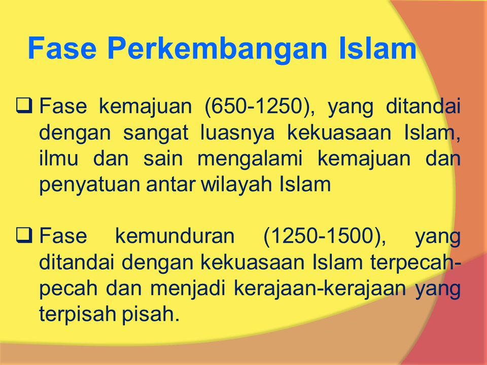 Fase Perkembangan Islam