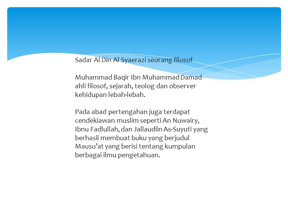 Sadar Al Din Al Syaerazi seorang filosof