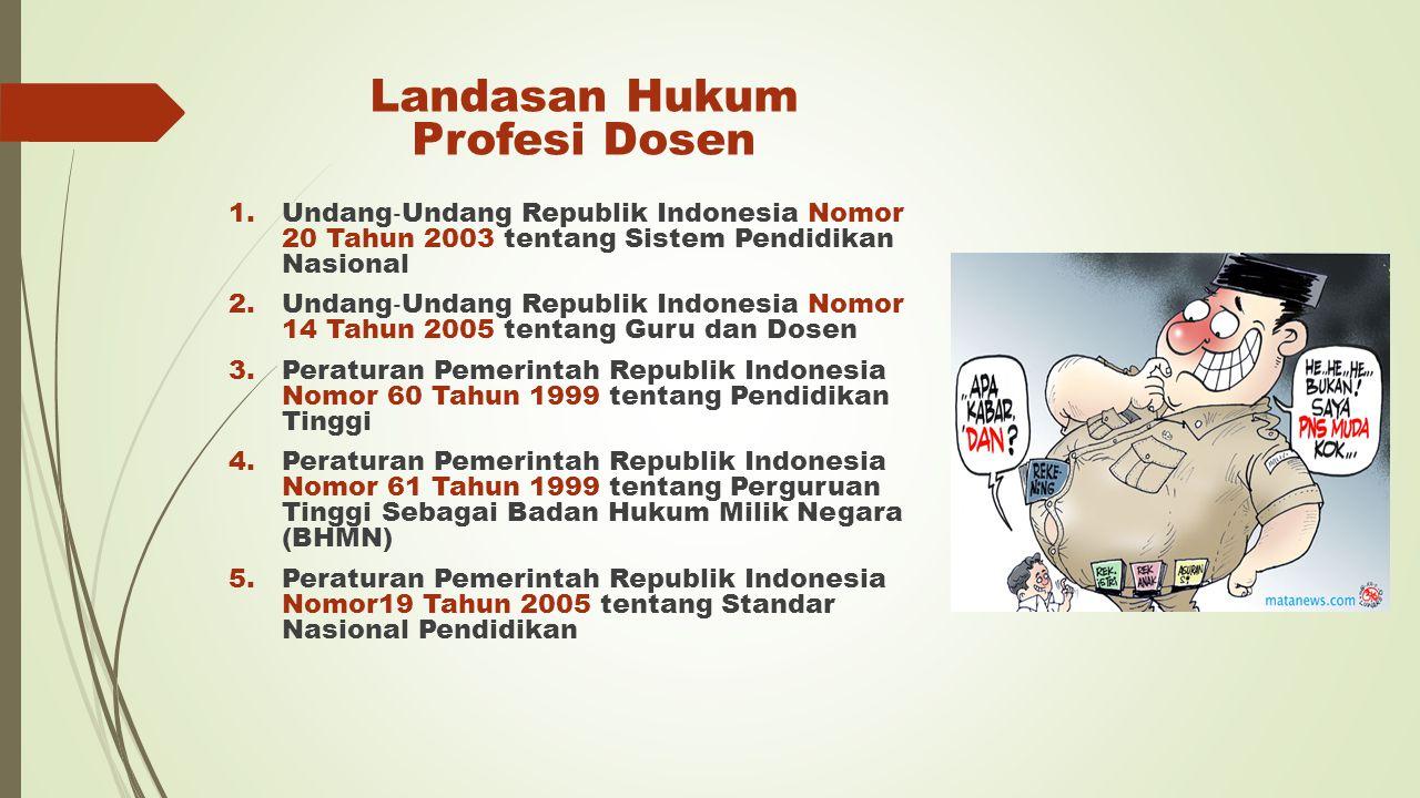 Landasan Hukum Profesi Dosen