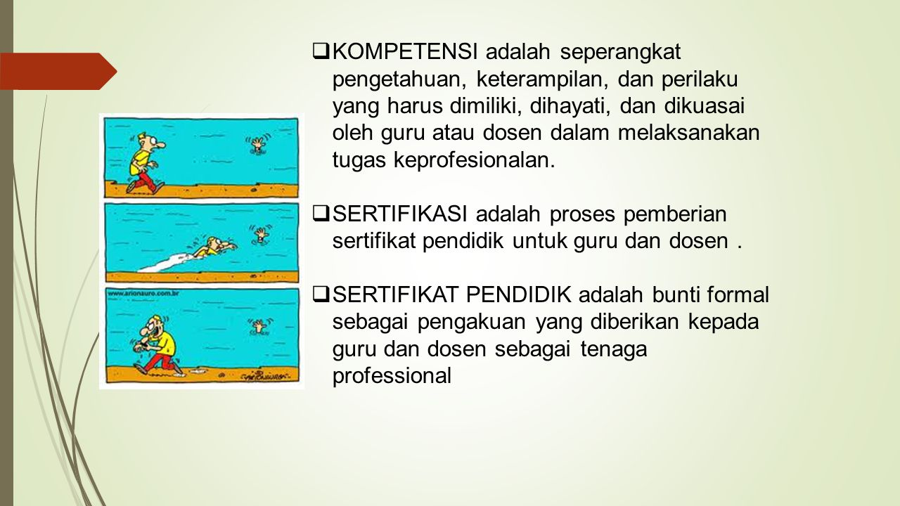 KOMPETENSI adalah seperangkat pengetahuan, keterampilan, dan perilaku yang harus dimiliki, dihayati, dan dikuasai oleh guru atau dosen dalam melaksanakan tugas keprofesionalan.