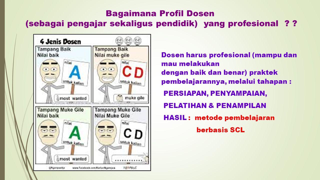 Bagaimana Profil Dosen (sebagai pengajar sekaligus pendidik) yang profesional