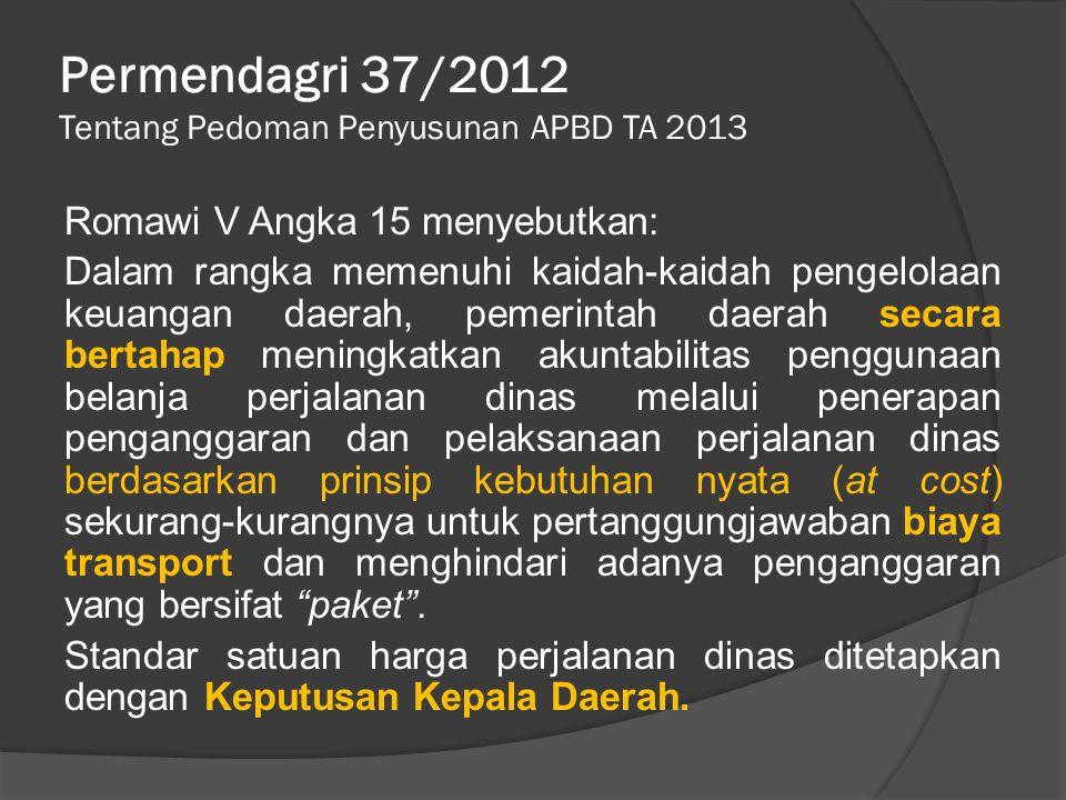 Permendagri 37/2012 Tentang Pedoman Penyusunan APBD TA 2013