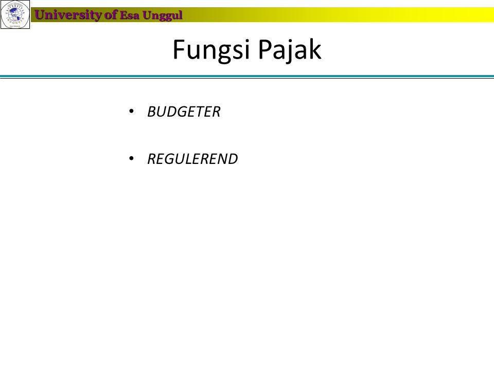 Fungsi Pajak BUDGETER REGULEREND