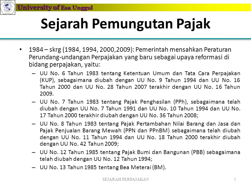 Sejarah Pemungutan Pajak