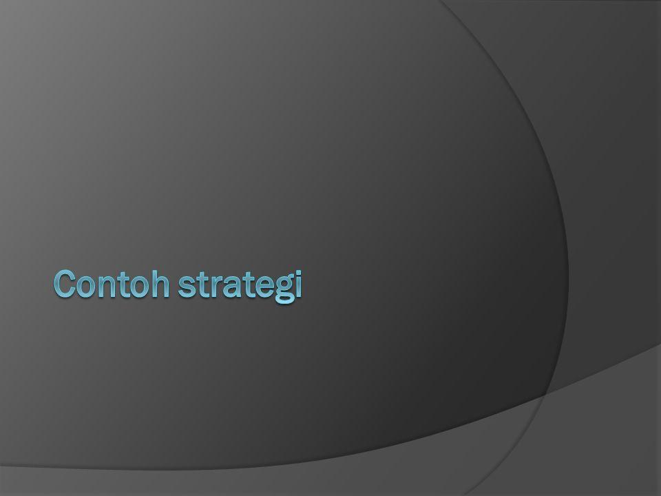 Contoh strategi
