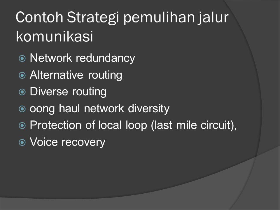 Contoh Strategi pemulihan jalur komunikasi