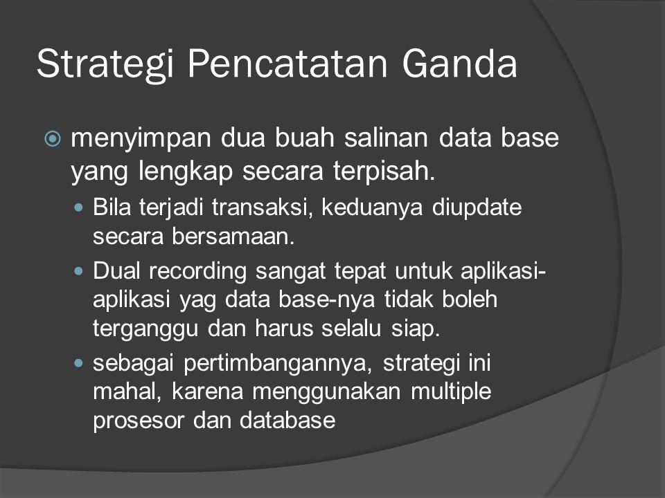 Strategi Pencatatan Ganda