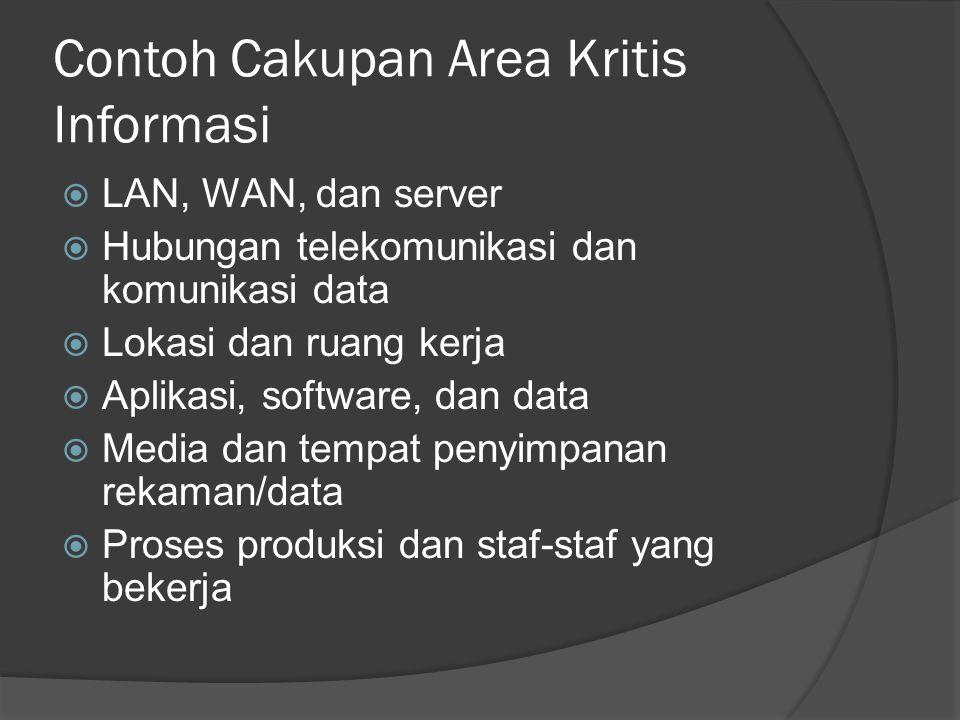 Contoh Cakupan Area Kritis Informasi