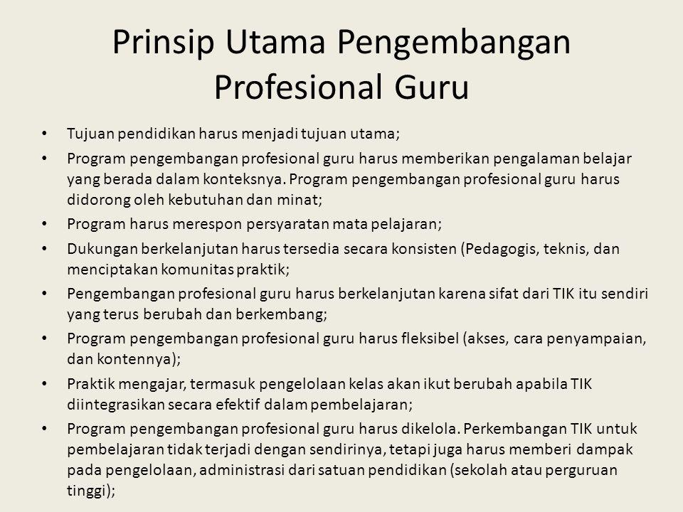 Prinsip Utama Pengembangan Profesional Guru