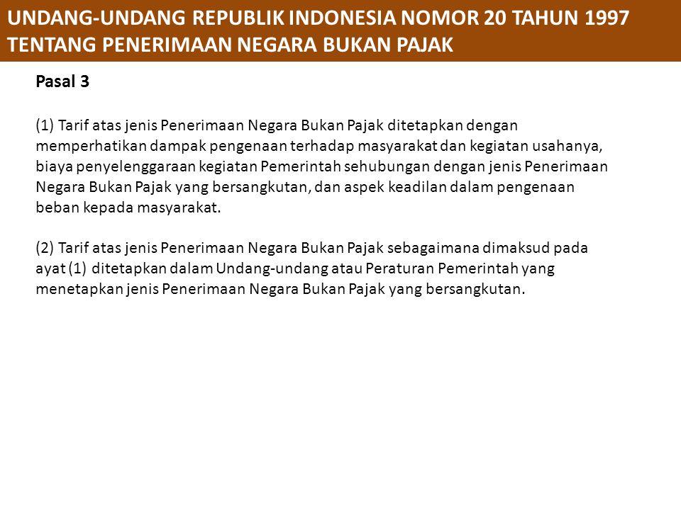UNDANG-UNDANG REPUBLIK INDONESIA NOMOR 20 TAHUN 1997