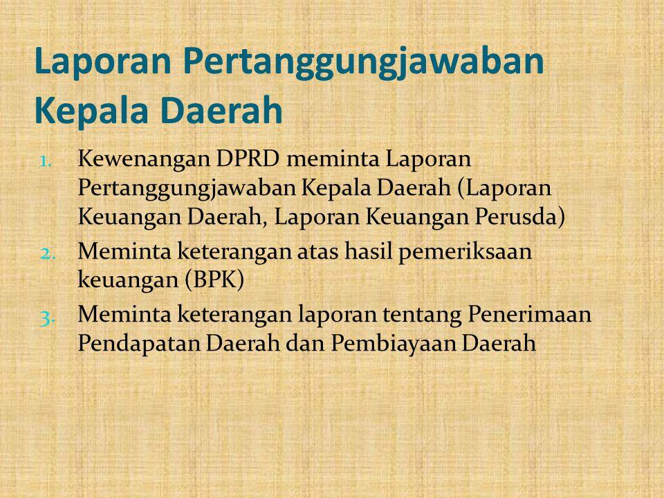 Laporan Pertanggungjawaban Kepala Daerah