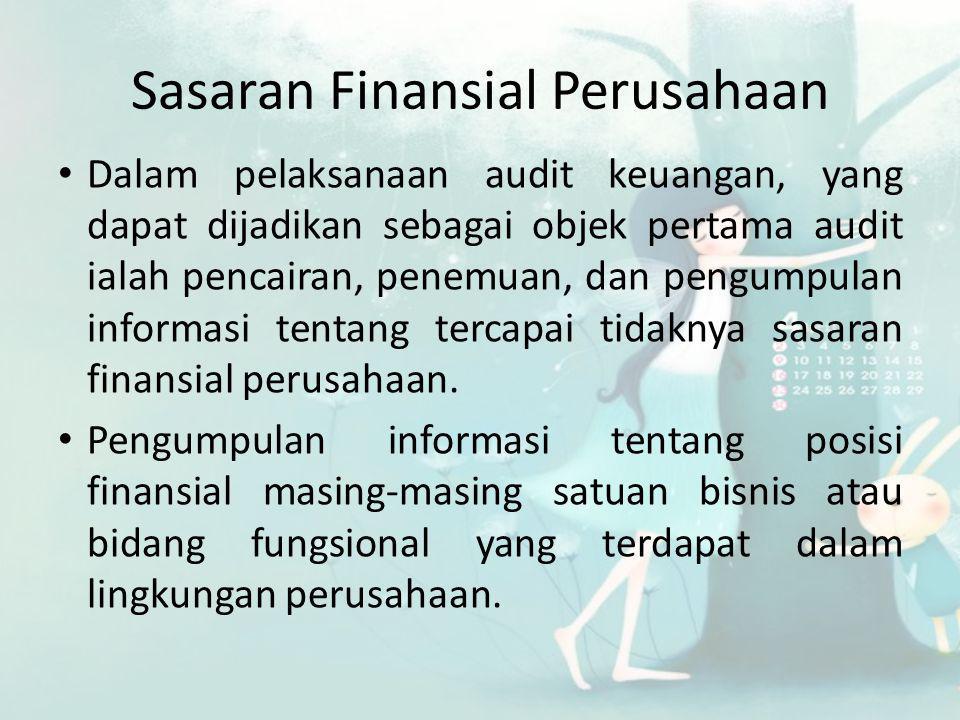 Sasaran Finansial Perusahaan