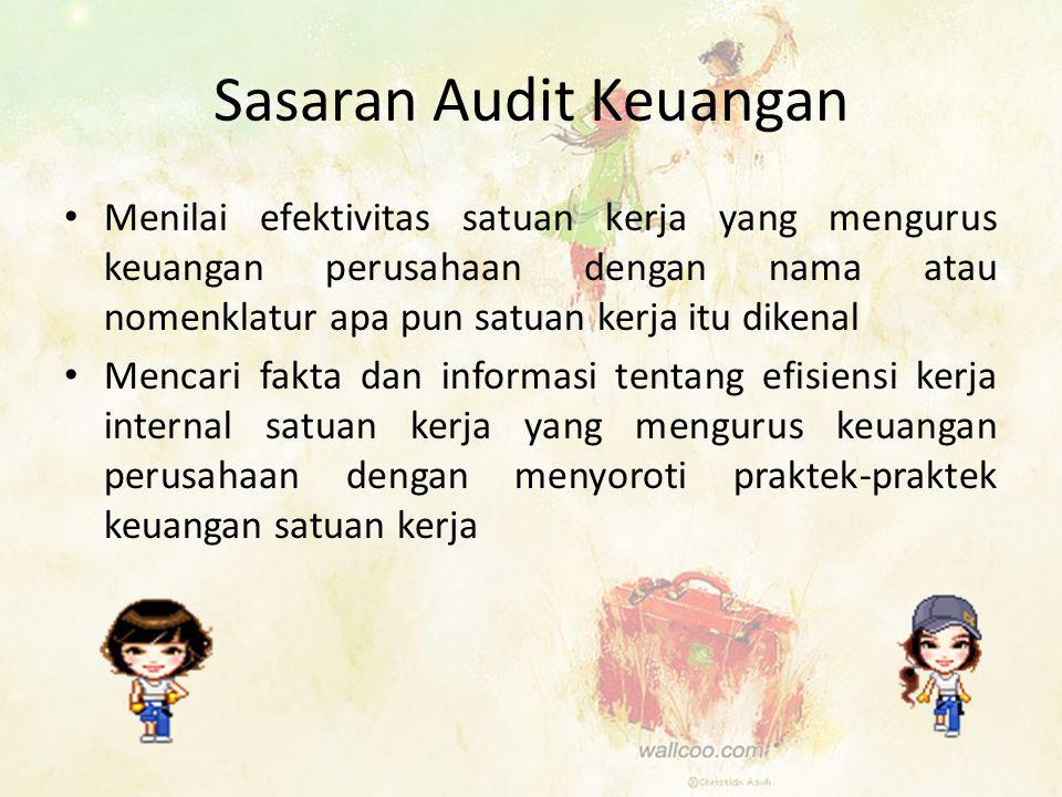 Sasaran Audit Keuangan