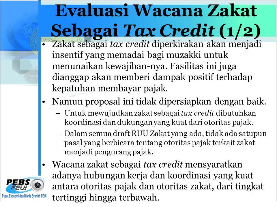 Evaluasi Wacana Zakat Sebagai Tax Credit (1/2)