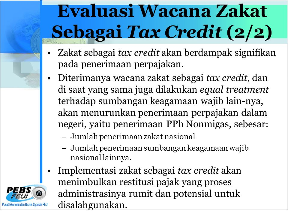 Evaluasi Wacana Zakat Sebagai Tax Credit (2/2)