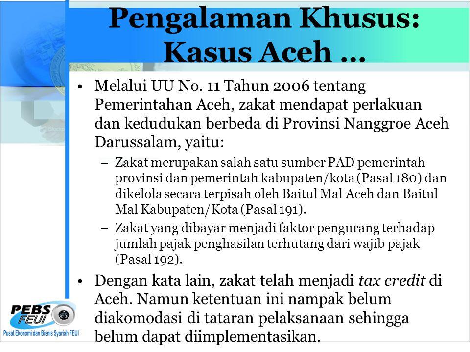 Pengalaman Khusus: Kasus Aceh …