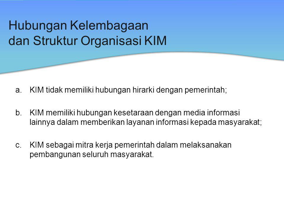 Hubungan Kelembagaan dan Struktur Organisasi KIM