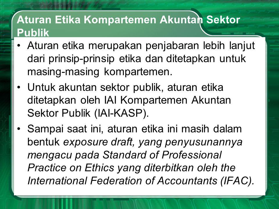 Aturan Etika Kompartemen Akuntan Sektor Publik