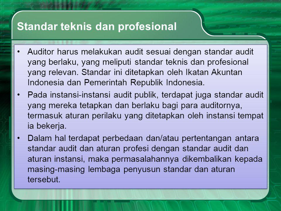 Standar teknis dan profesional