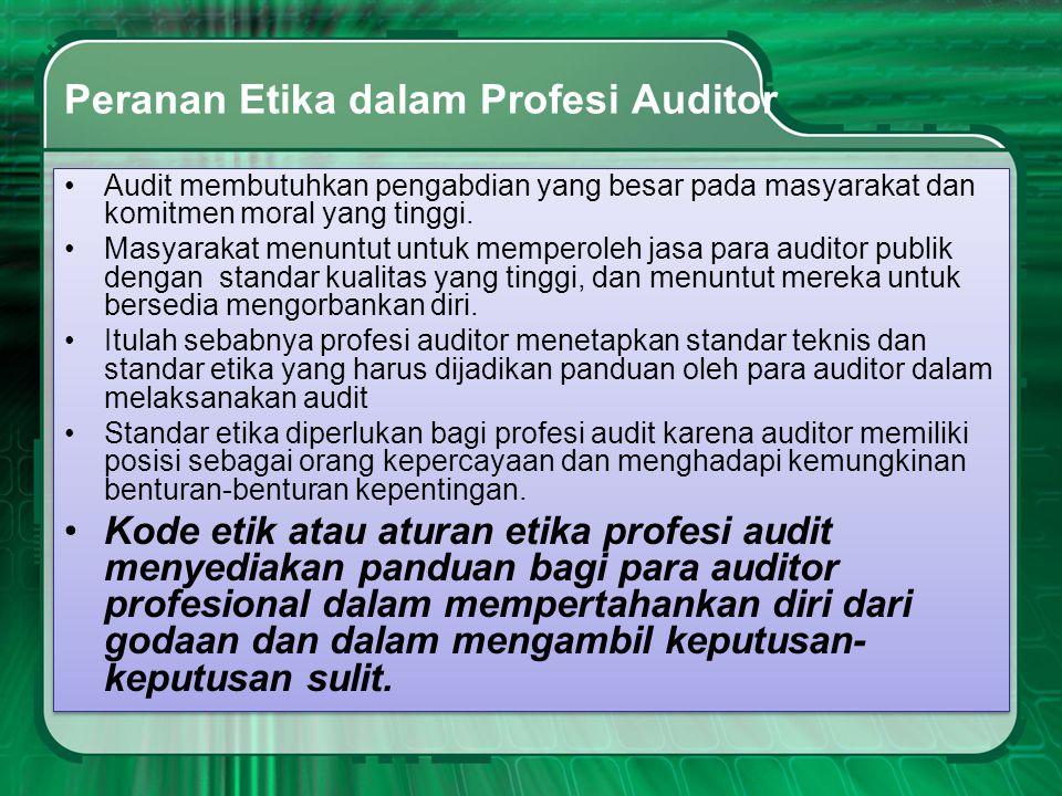 Peranan Etika dalam Profesi Auditor