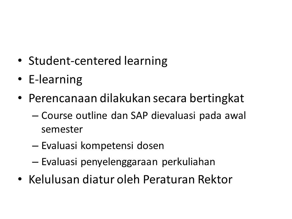 Student-centered learning E-learning