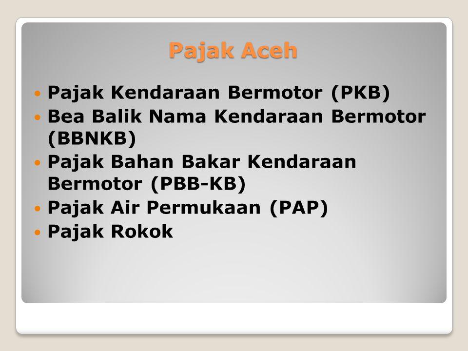 Pajak Aceh Pajak Kendaraan Bermotor (PKB)