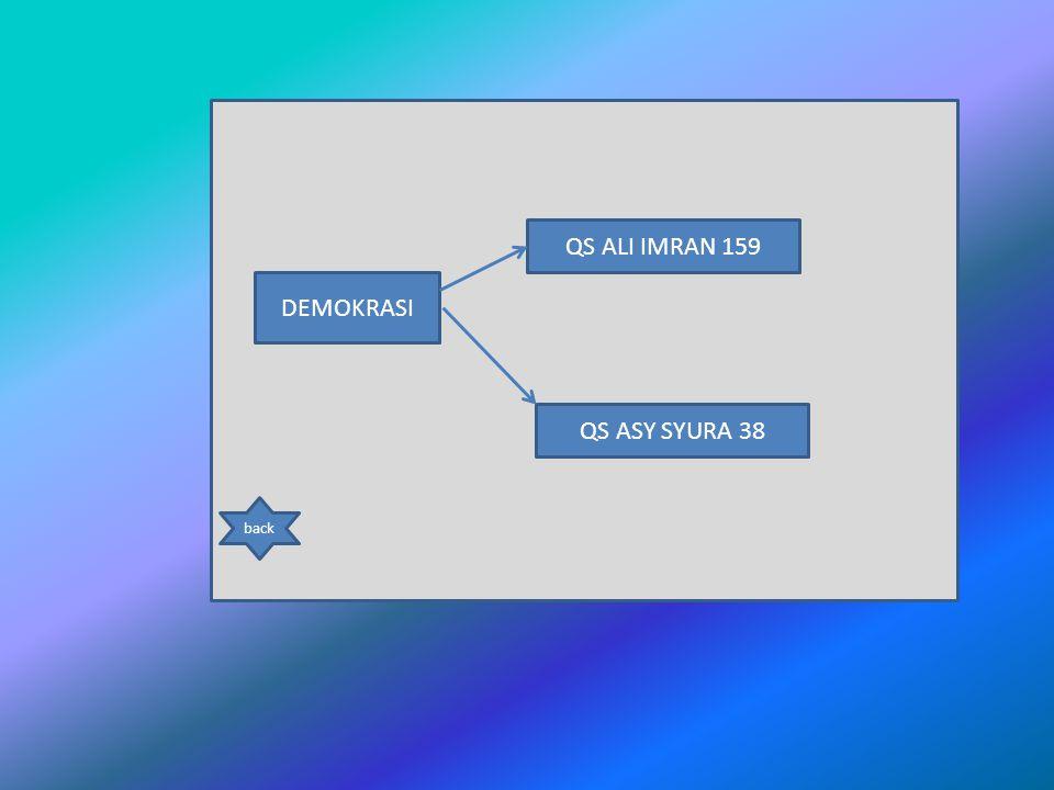 QS ALI IMRAN 159 DEMOKRASI QS ASY SYURA 38 back