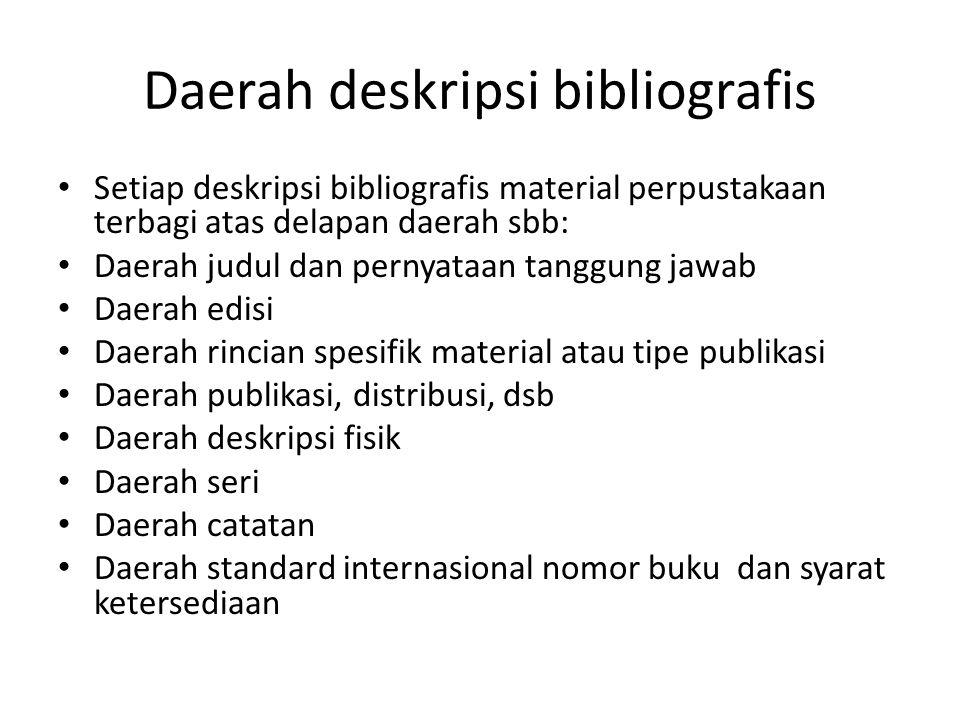 Daerah deskripsi bibliografis