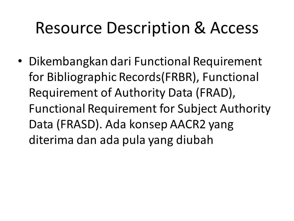 Resource Description & Access