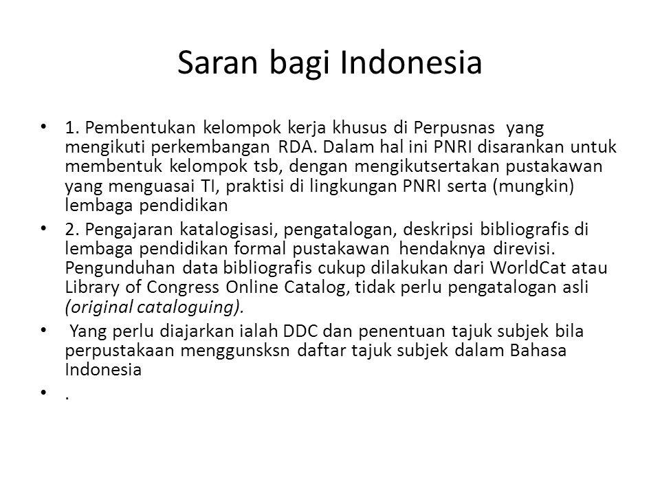 Saran bagi Indonesia