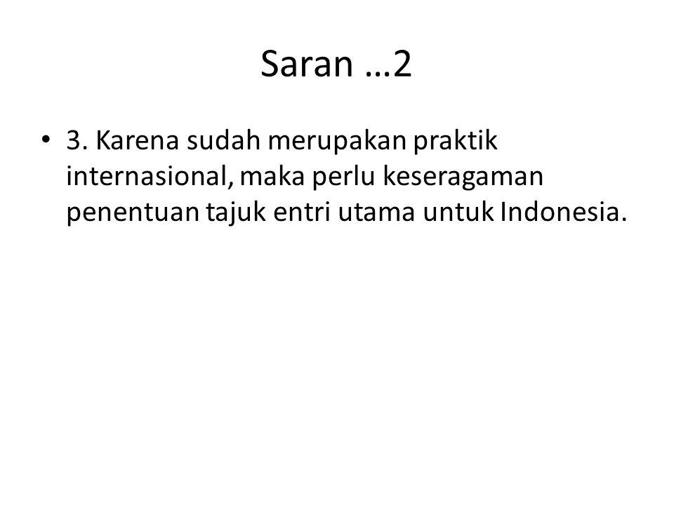 Saran …2 3.