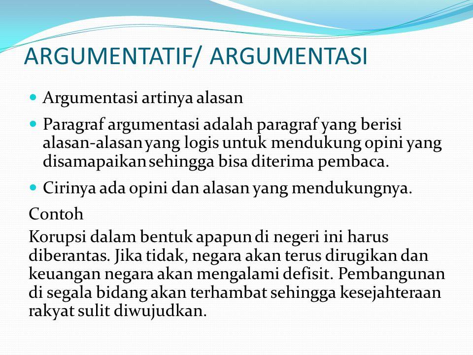 ARGUMENTATIF/ ARGUMENTASI