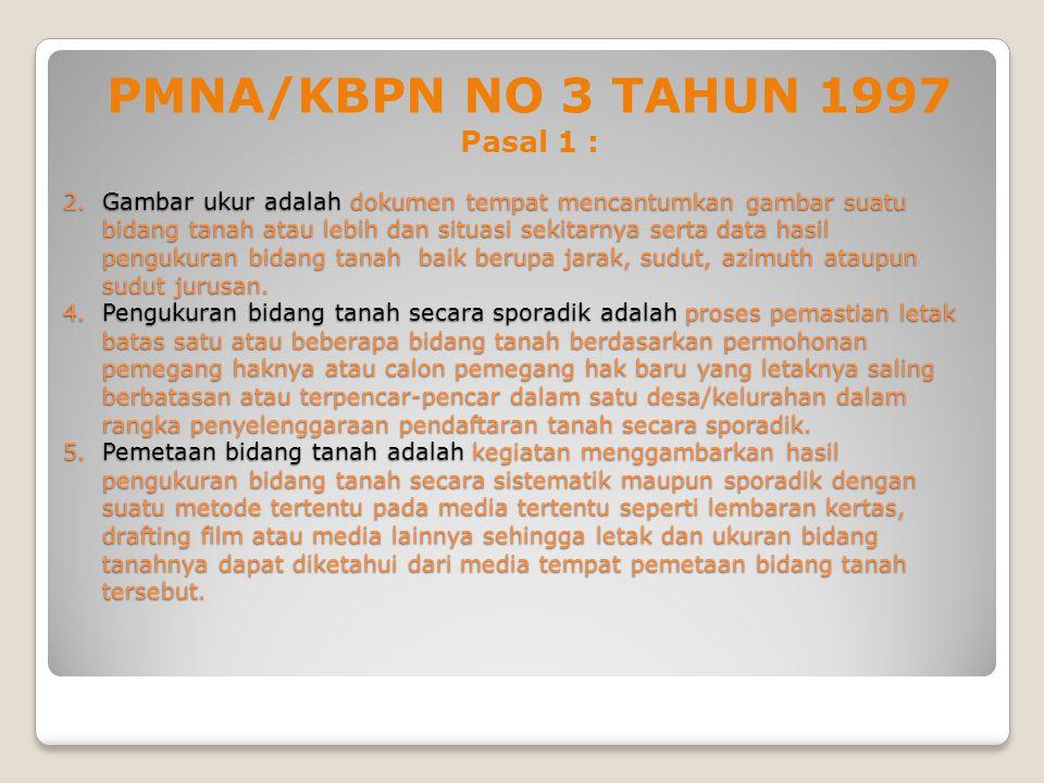 PMNA/KBPN NO 3 TAHUN 1997 Pasal 1 :