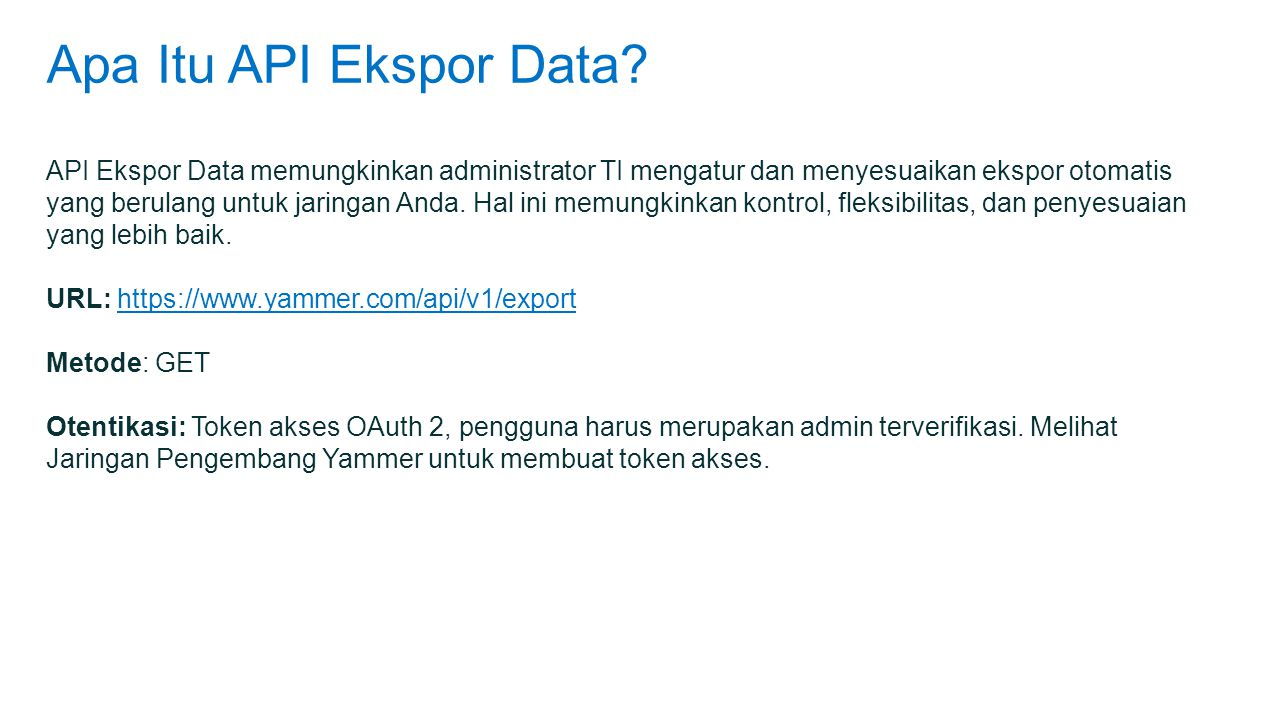 Apa Itu API Ekspor Data