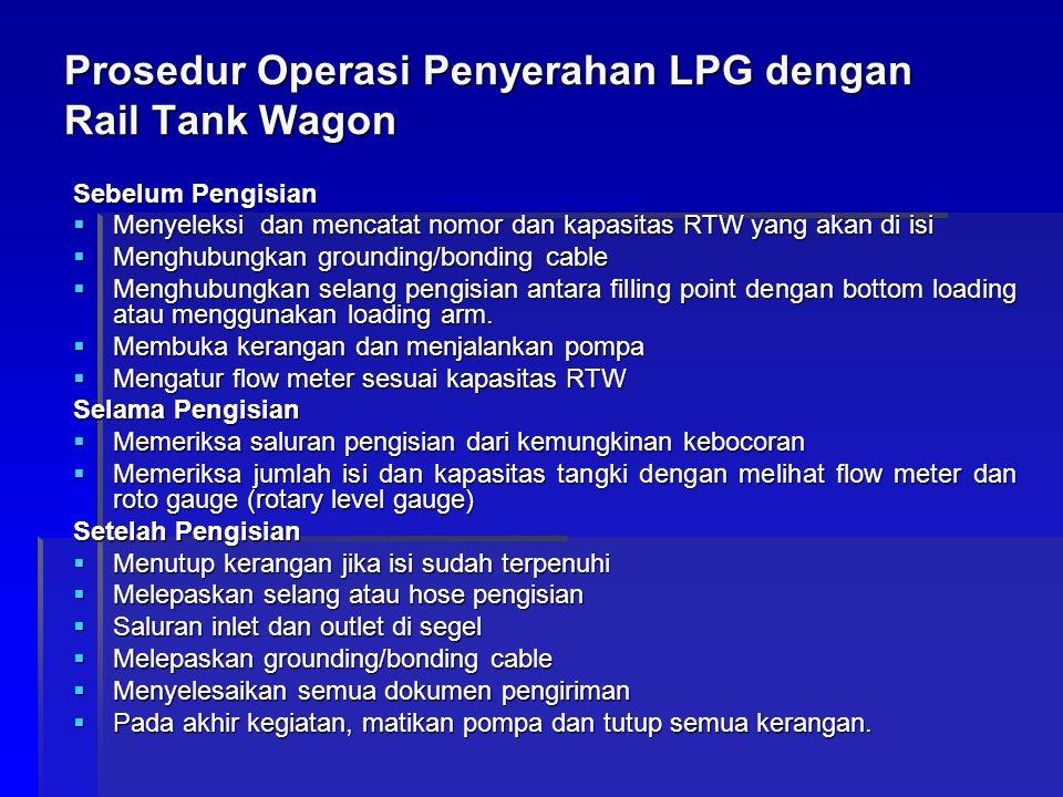 Prosedur Operasi Penyerahan LPG dengan Rail Tank Wagon