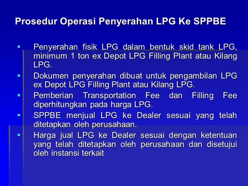 Prosedur Operasi Penyerahan LPG Ke SPPBE