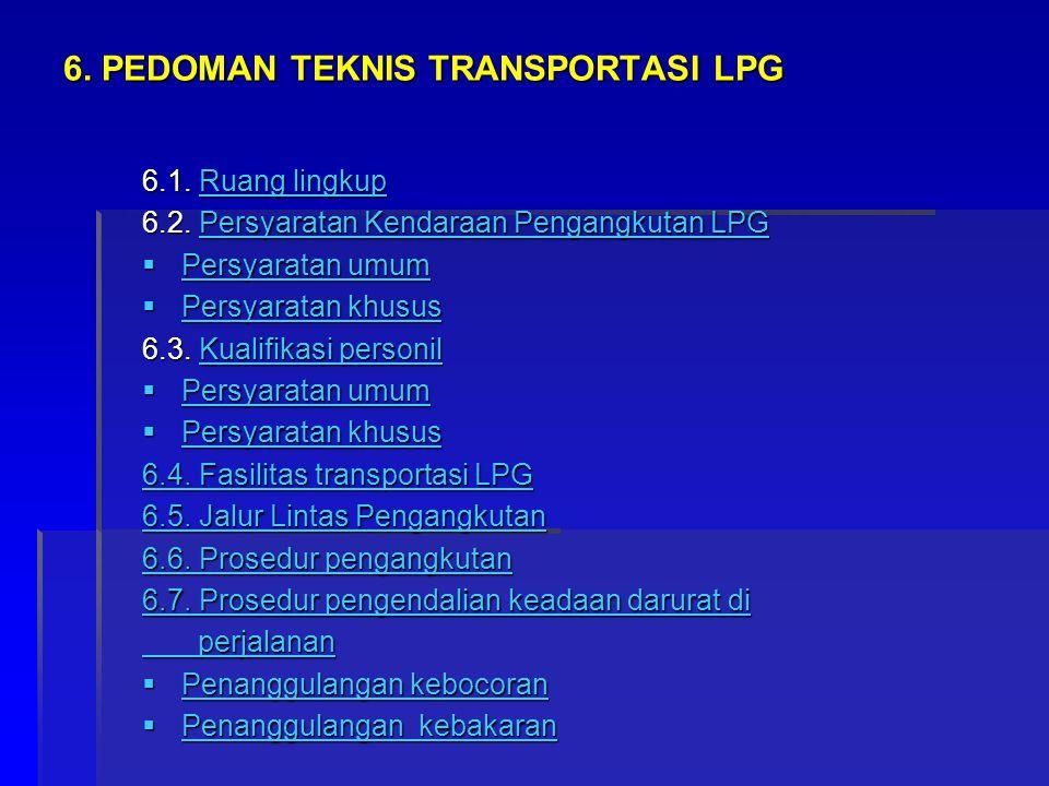 6. PEDOMAN TEKNIS TRANSPORTASI LPG