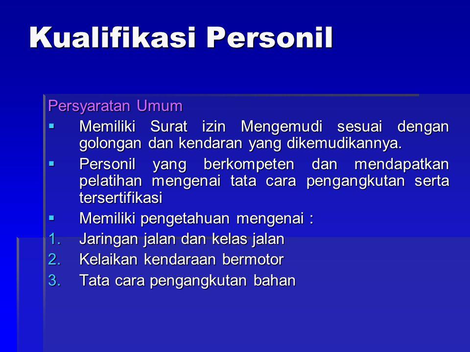 Kualifikasi Personil Persyaratan Umum