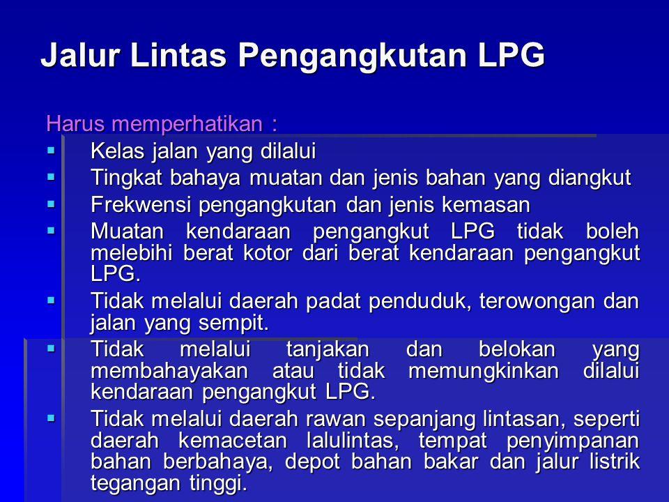 Jalur Lintas Pengangkutan LPG