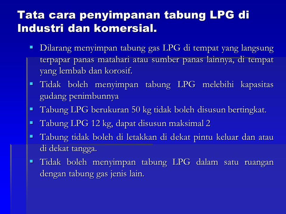 Tata cara penyimpanan tabung LPG di Industri dan komersial.