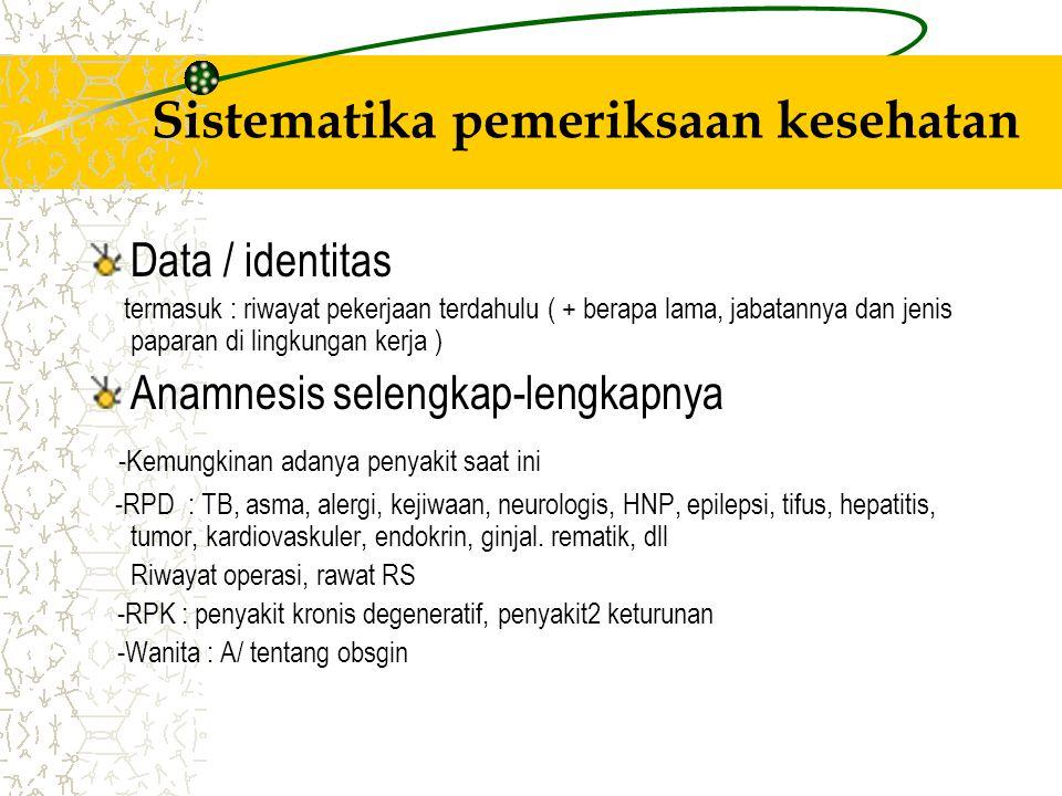 Sistematika pemeriksaan kesehatan