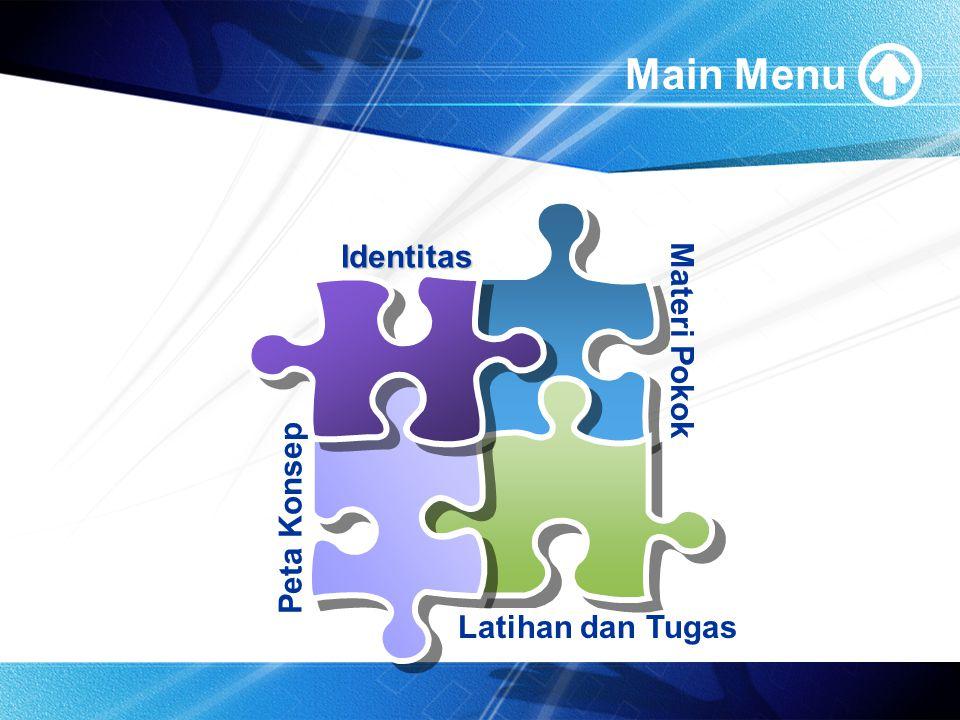 Main Menu Identitas Materi Pokok Peta Konsep Latihan dan Tugas