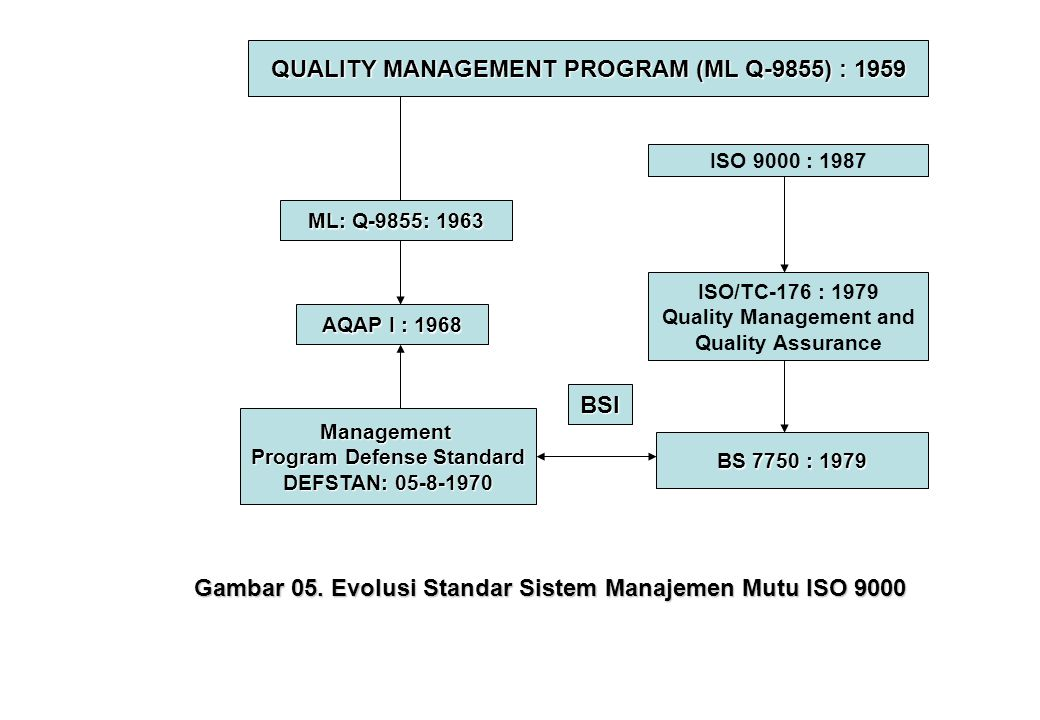 QUALITY MANAGEMENT PROGRAM (ML Q-9855) : 1959 BSI
