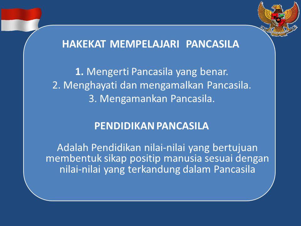 HAKEKAT MEMPELAJARI PANCASILA