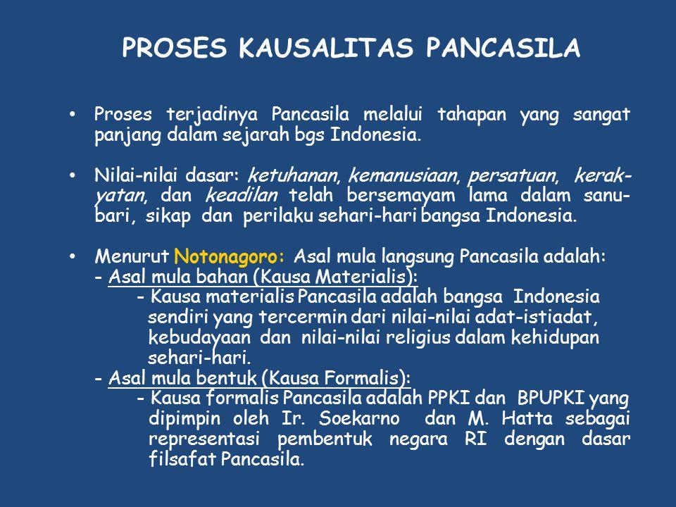 PROSES KAUSALITAS PANCASILA