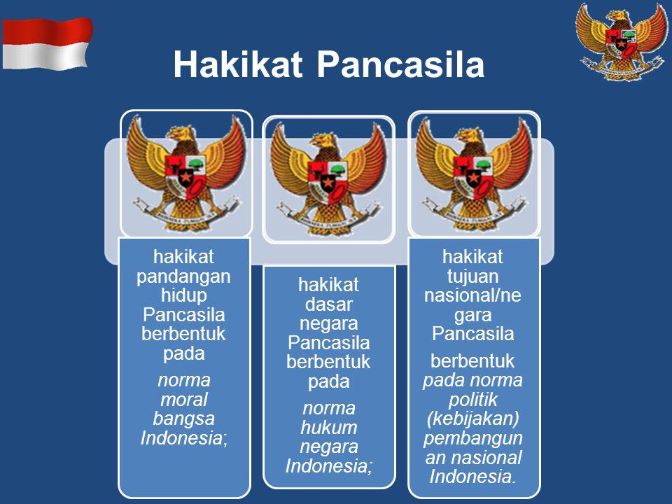 Hakikat Pancasila hakikat pandangan hidup Pancasila berbentuk pada