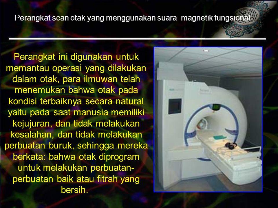 Perangkat scan otak yang menggunakan suara magnetik fungsional