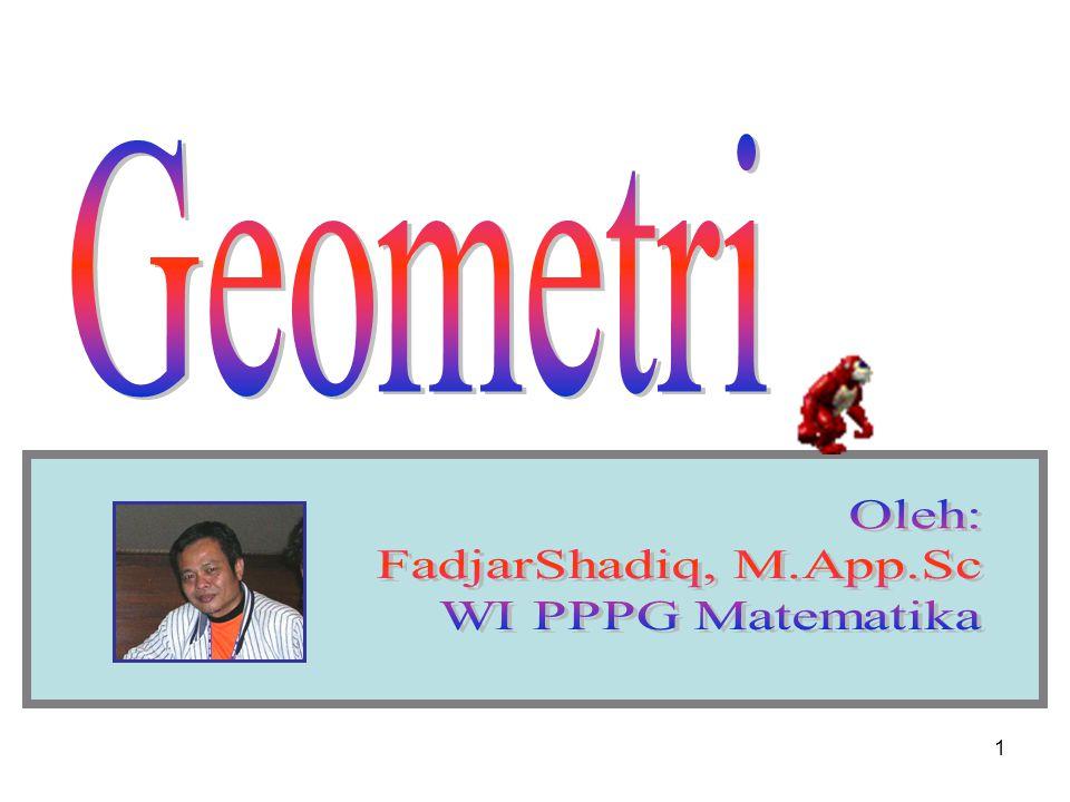 Geometri Oleh: FadjarShadiq, M.App.Sc WI PPPG Matematika