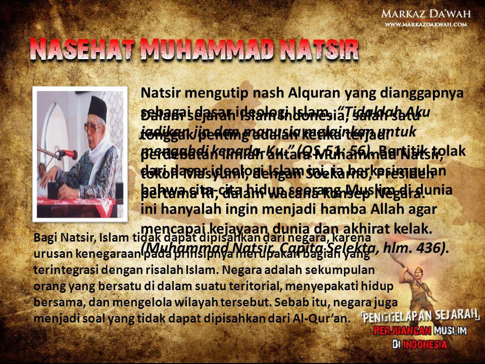 Nasehat Muhammad natsir